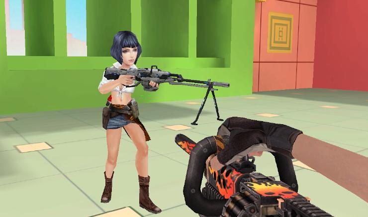 3D射击网页游戏4399生死狙击 大头英雄童趣截图