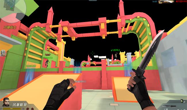 3D射击网页游戏4399生死狙击 新地图梦幻城堡